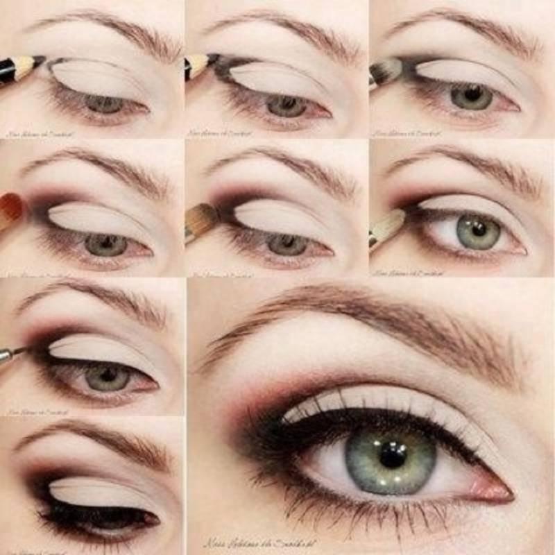 пошаговая схема макияжа в технике банан
