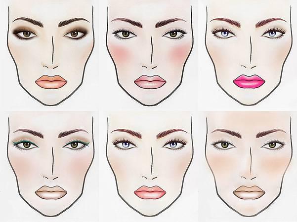 Схемы макияжа глаз