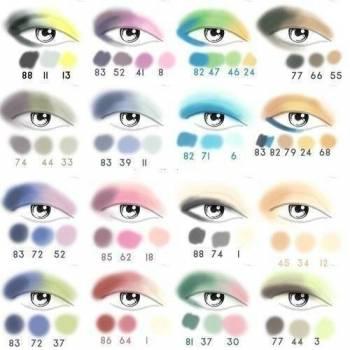 Правильное сочетание цветов в макияже – Макияж #9