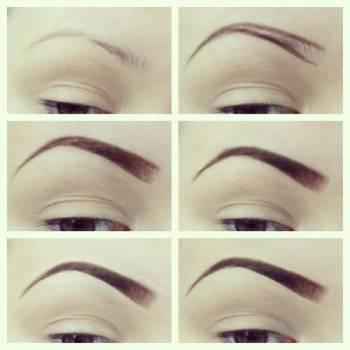 Простая схема макияжа бровей – Макияж #4