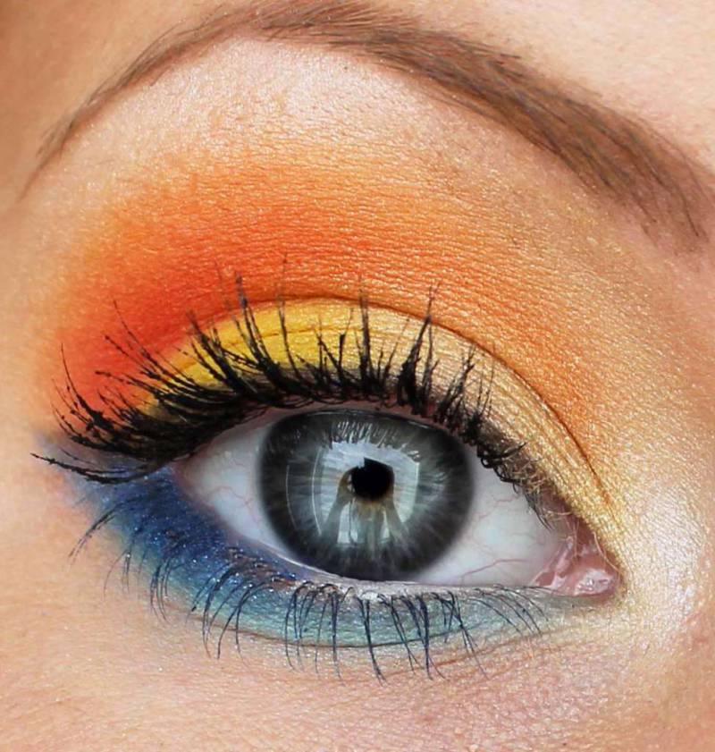 Оранжевый макияж