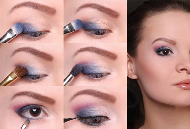 Вечерний макияж для маленьких глаз поэтапно