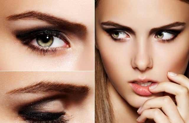 Дневной макияж для черных глаз пошаговое 87