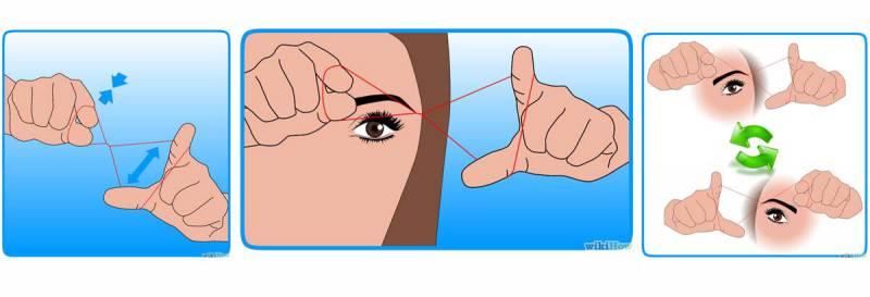 Как выщипать брови ниткой в домашних условиях – видео-урок и фото