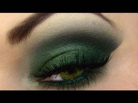 Зеленый Смоки айс (Green Smoky eye) пошагово