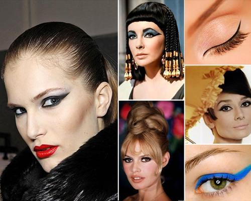 фото с примерами макияжа со стрелками