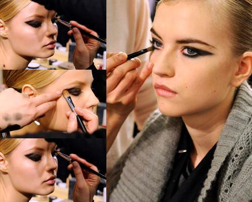 схема нанесения макияж со стрелками