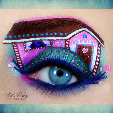 Арт макияж на лице