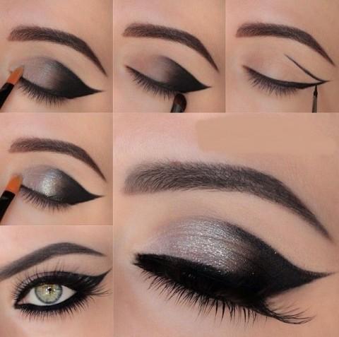 схема черного макияжа