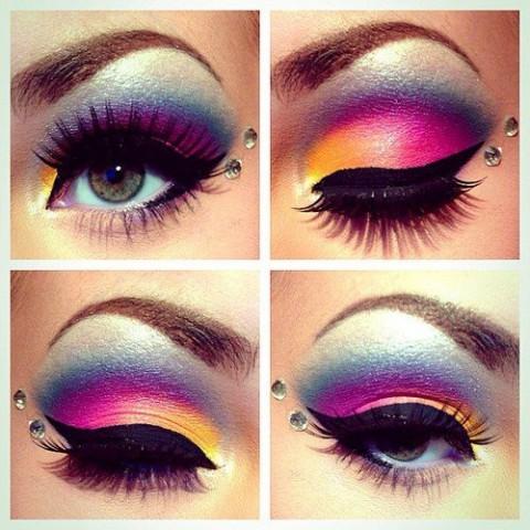 макияж со стразами пример