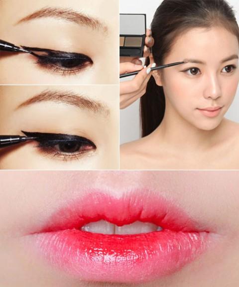 Как сделать глаза как у кореянок