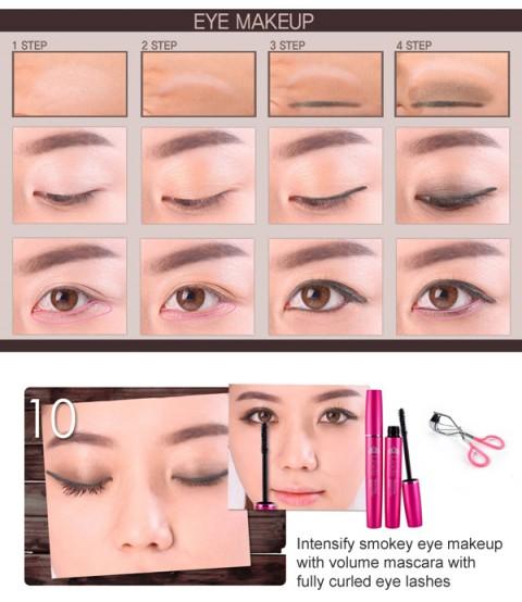 пошаговый корейский макияж глаз