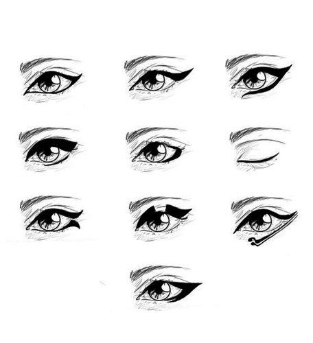 виды макияжа кошачий глаз
