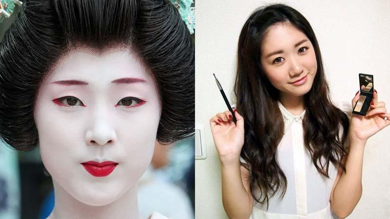 Японки фото макияж