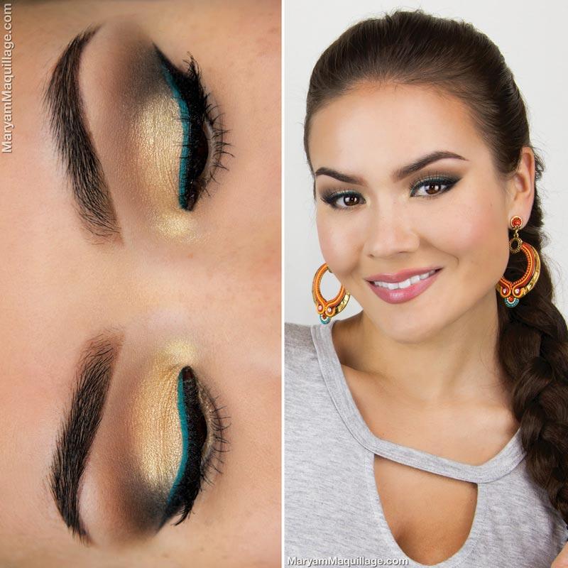 макияж глаз для смуглой девушки