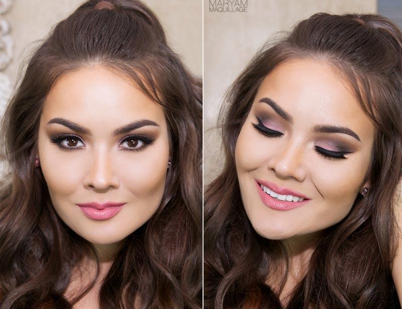 пример макияжа для смуглых
